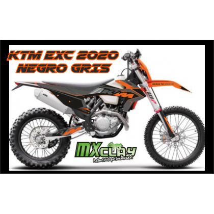 KTM EXC 2020 NEGRO GRIS